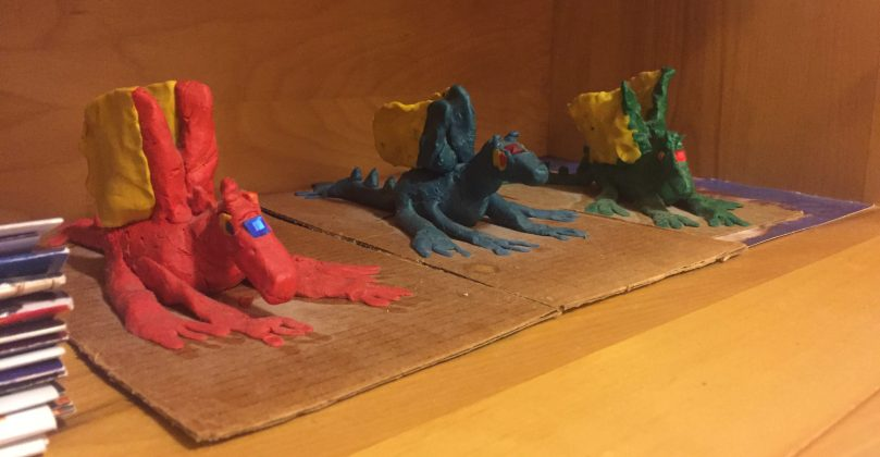 My homemade clay dragons.